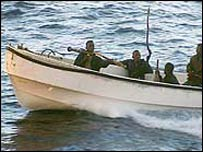 Pirates off the coast of Somalia