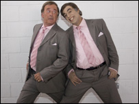 Terry Wogan with dancer/body double Hatim