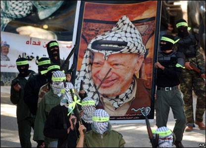 Gunmen from the al-Aqsa Martyrs Brigades