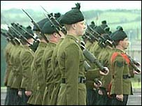 RIR troops on parade