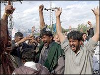 Protesters in Muzaffarabad