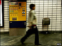 Woman on an Oslo subway platform