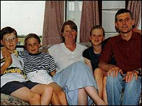 Ria Hickerton and her family