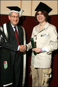 Nicky Wire diploma (Picture from Swansea University)