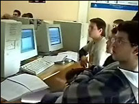 Teenagers attending ISECOM's computer security classes