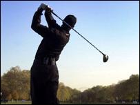 Image of golfer Tiger Woods