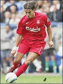 Liverpool striker Milan Baros