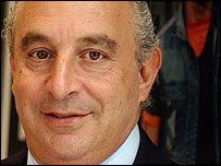 Arcadia owner Philip Green