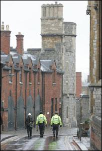 Police patrol Windsor Castle