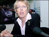Trade & Industry Secretary Patricia Hewitt at Longbridge on Friday