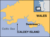 Map of Caldey Island