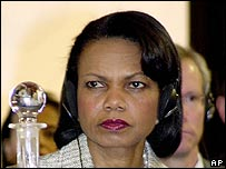 US Secretary of State Condoleezza Rice at Bahrain summit