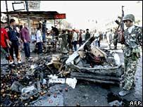 blast scene in Baghdad