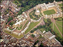 Ariel shot of Windsor Castle