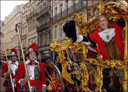 The new Lord Mayor in his coach
