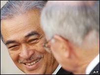 Malaysian Prime Minister Abdullah Ahmad Badawi and Australian Prime Minister John Howard