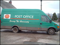 Mobile post office van