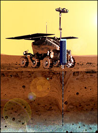 Rover on Mars concept (PParc)