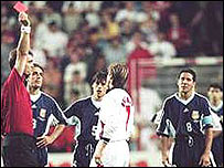 Argentina-Inglaterra, Francia 1998