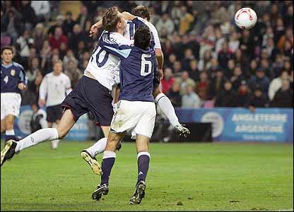 Michael Owen scores England's winner