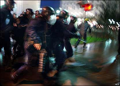 Riot police in Lyon