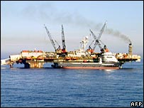 Norwegian oil pipelay barge LB200