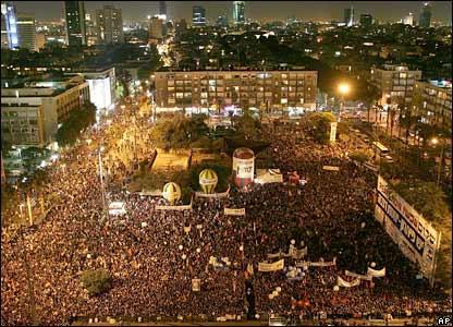 The Tel Aviv rally