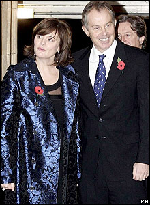 Tony Blair (right) and his wife, Cherie