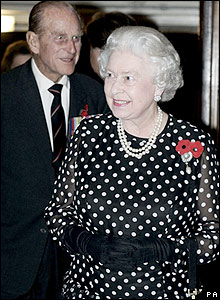 The Queen (left) and Duke of Edinburgh