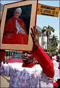 Catholic mourner