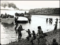 Action from 1982 Falklands conflict