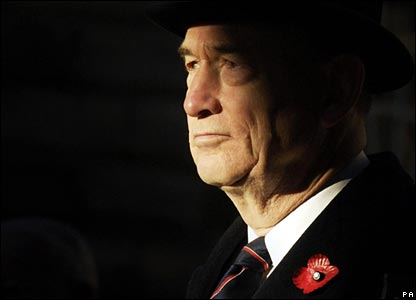A veteran at a service in Edinburgh