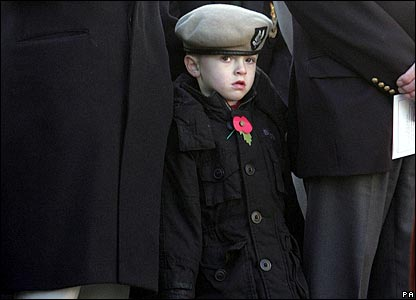 Boys attends a service in Liverpool