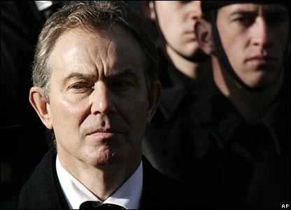 Prime Minister Tony Blair at the Cenotaph in London