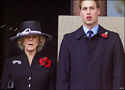 Camilla, Duchess of Cornwall, and Prince William