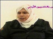 Suspected would-be bomber Sajida Mubarak Atrous al-Rishawi on Jordanian TV