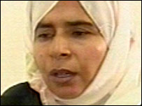 Suspected would-be bomber Sajida Mubarak Atrous al-Rishawi on Jordanian TV