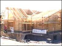 The log cabin is due to be completed in May