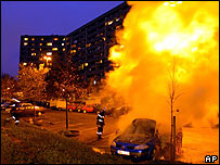 Car blazes in Toulouse's the La Reynerie housing estate