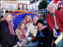 Abby Richards,11, sister Darcey, 9, Barbara Murray, Cathy Murray and Tricia Murray and Grandmother Guen from Norfolk