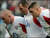Phil Vickery, Steve Thompson and Andrew Sheridan