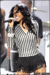 Pop singer Amerie, Getty Images