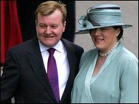 Charles and Sarah Kennedy at the royal wedding