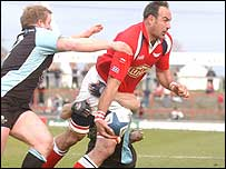 Chris Wyatt in action against Glasgow