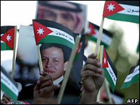 Jordanians at a peace rally in Amman