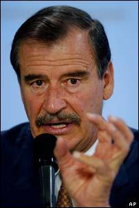 Mexican President Vicente Fox