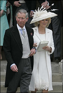 Charles and Camilla (in civil ceremony outfit)