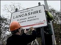 Lancashire County Council sign