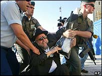 Israeli police arrest an Orthodox Jew in Jerusalem
