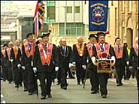 Orange march in Glasgow